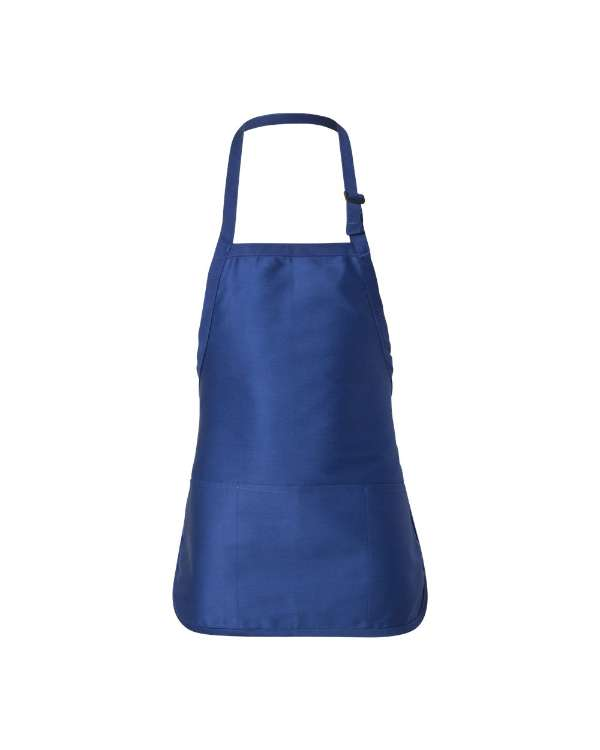 Half-Length Apron with Triple Pouch Pocket